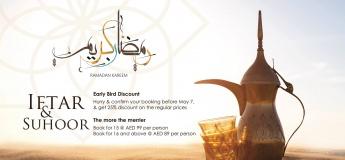 Celebrate Ramadan - Iftar & Suhoor