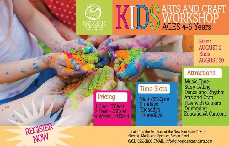Kids Arts And Crafts Workshop Tickikids Abu Dhabi