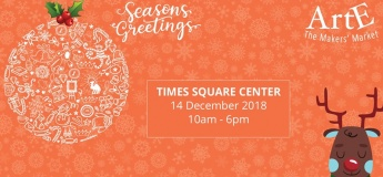 The ARTE Christmas Market in Times Square Center