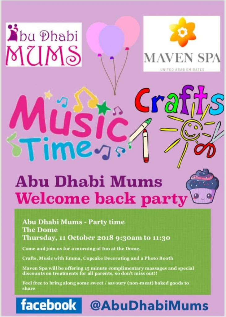 Abu Dhabi Mums Welcome Back Party
