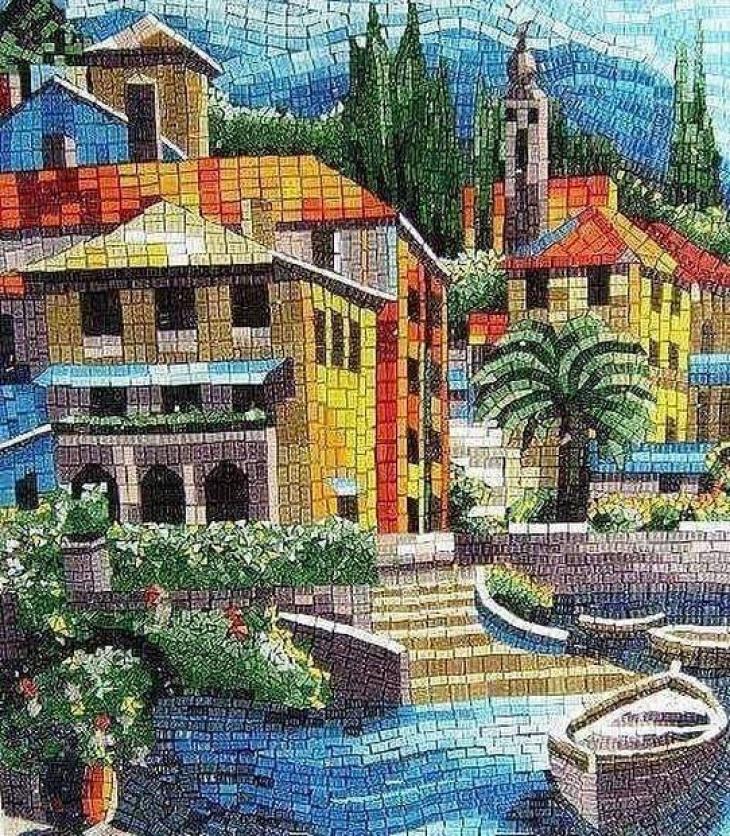 Landscape Mosaic Art