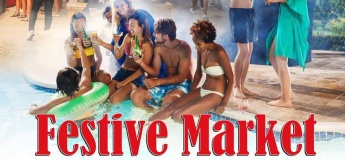 Festive Market and Pool Party | Oasis Pool Bar