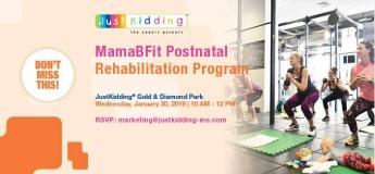 Just Kidding & MamaBFit free Post Natal Workout